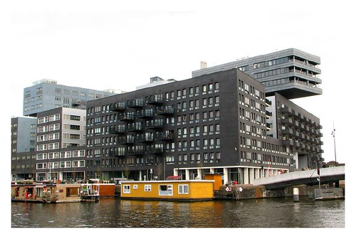 A funky looking building in Amsterdam by you.