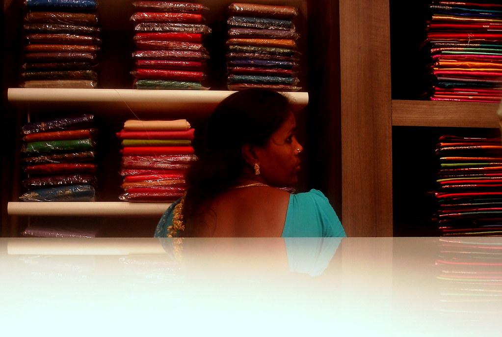 sari shop girl