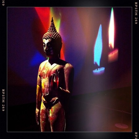 Nam June Paik, One Candle, Standing Buddha