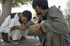 Afghan Men During Break from Drug Counselling ...