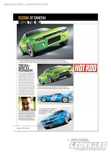 Road Runner & Superbird Concept in HOT ROD May 09 issue
