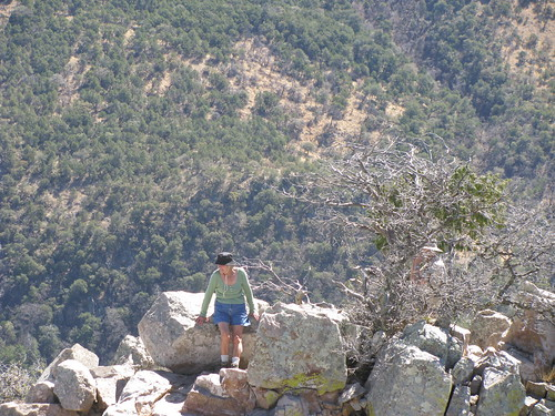 A pleasant German woman braved the climb, bad knee and all.