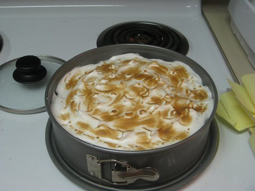 Caramelize the meringue