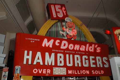 Vintage McDonalds sign, The Henry Ford, Dearborn, Mich.  Photo by Chuck MIller.