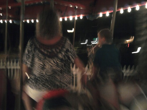 My cousins on the carousel