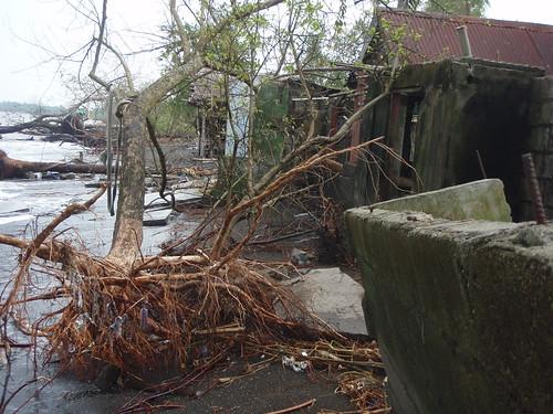 Damaged houses at Ternate, Cavite