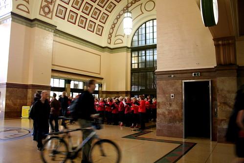 Friday: Choir in the Railway Station!