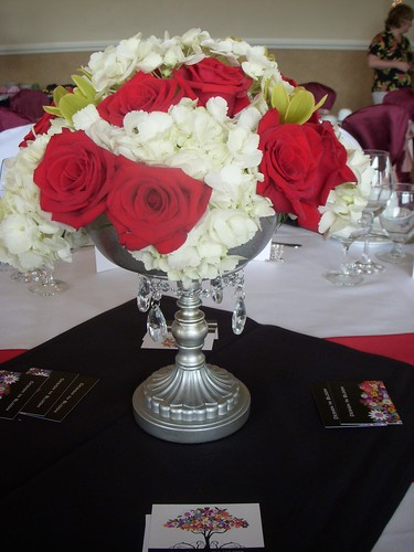 Black, White and Red Centerpiece