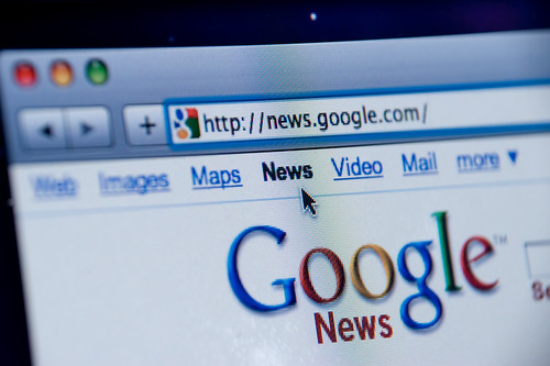 Google News website screenshot by Spencer E Holtaway, on Flickr