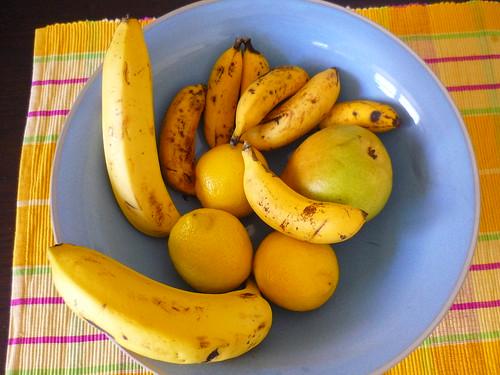 A fruit bowl - NB the mini-bananas