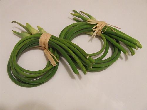 garlic scapes