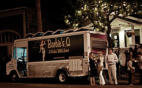 Barbie's Q, BBQ Truck, First Friday, Venice by you.