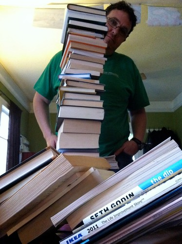 Books as tall as Bryan!