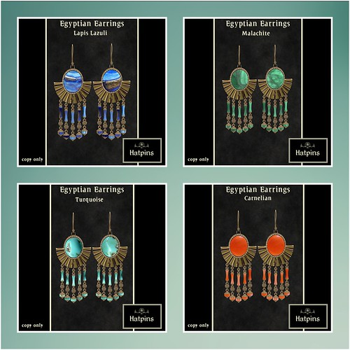 Accessory Fair 2011 - Hatpins - Egyptian Earrings