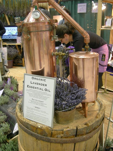 Copper lavender oil press