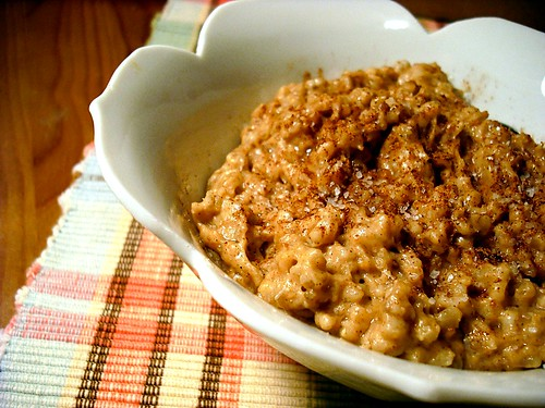 Image result for oatmeal with peanut butter and cinnamon