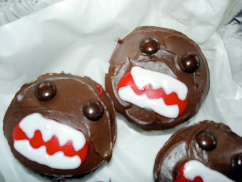 Closeup of Domo-kun Cupcakes