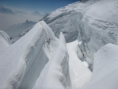 路線上的冰河裂隙