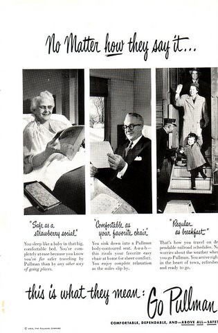 Vintage Pullman Ad 1950 by Becky F.