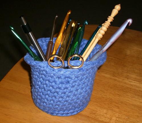 Crochet Hook Holder with Loop for Scissors