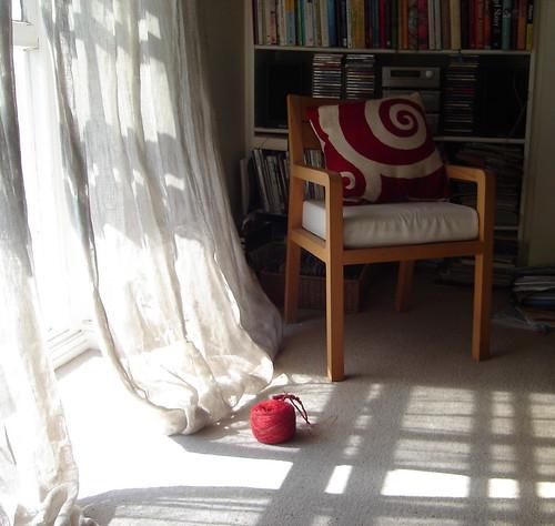 bookshelves chair wool
