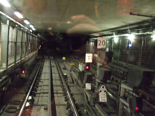 Driver's eye view from North Greenwich Tube