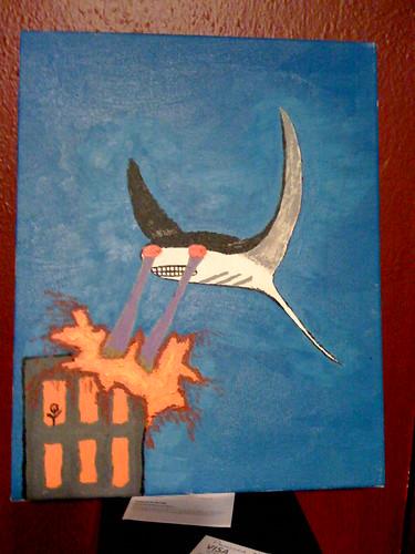 manta ray, laser eyes : killing a building