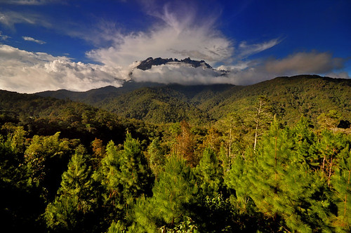 Mount Kinabalu seen from Rose Cabin