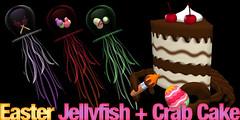 Easter Jellyfish + Crab cake