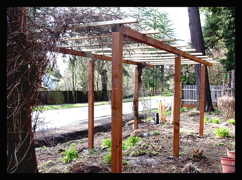 The new garden arbor is done  3/09 by you.