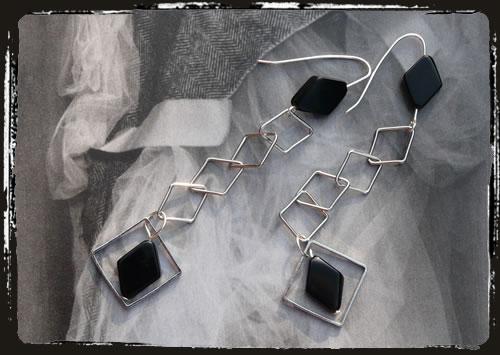 Orecchini neri . Black earrings AMHLPOR