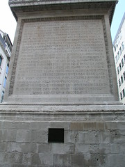 Inscriptions on the Monument to the Great Fire, London