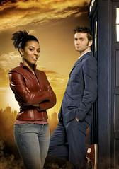 David Tennant and Freema Agyeman in Doctor Who
