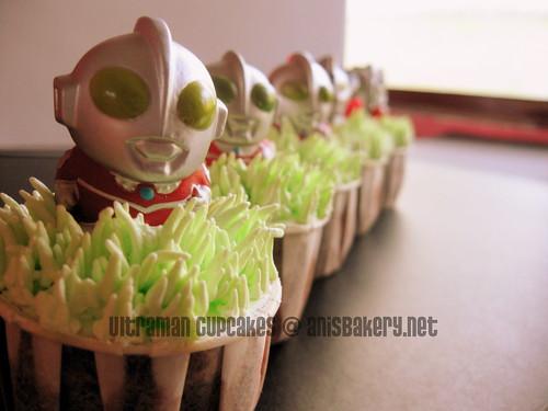 ultraman cupcakes