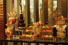 candy buffet and choco fountain