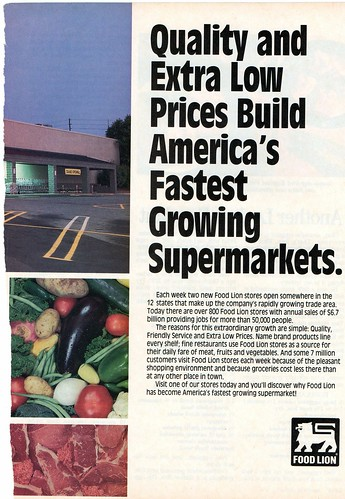 Food Lion Ad, Early 90's.
