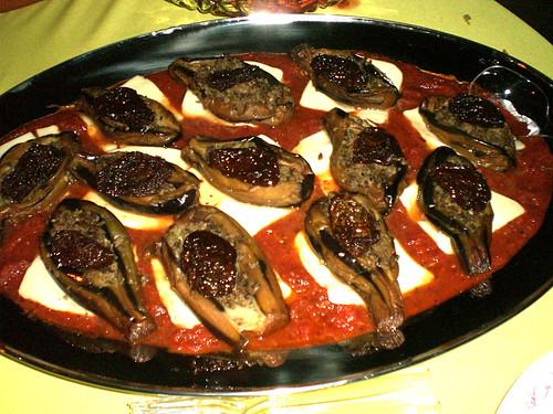Stuffed Fried Eggplant with sun dried tomatoes