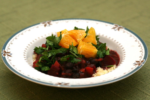 Black Beans and Beets with Orange Juice