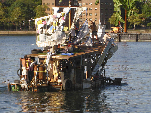 Chicken John's art boat