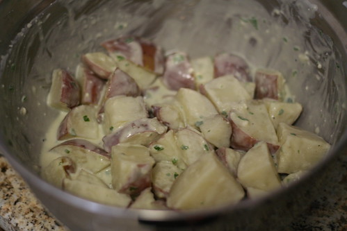 Red Bliss Potato Salad with Blue Cheese