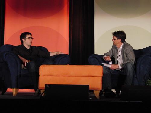 Kevin Rose and Evan Hansen at ad tech keynote 4