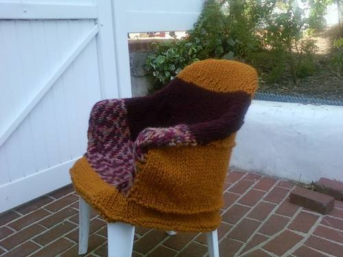 Redskins inspired knitted chair