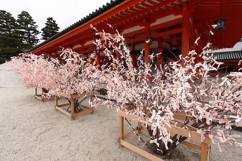 Pink Omikuji Trees