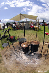 Cooking - Plains of Abraham Re-Enactment, Founders Day 2009, Ogdensburg, New York