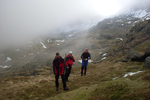Peter, Nobz and Jeff in Cwm Glas...is that snow I can see?