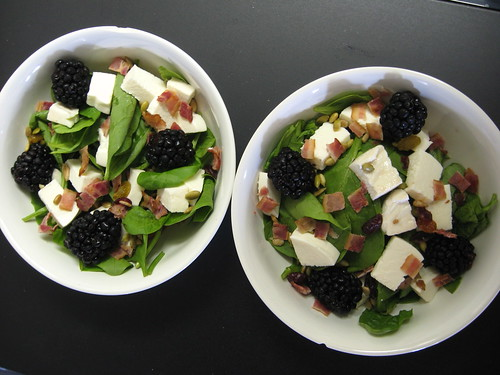salad w/blackberries from snead's farm