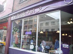 The Purple Purl - a lovely, friendly knitting shop.