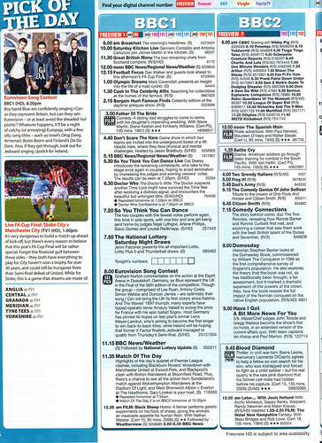 Total TV Guide 14-20 May 2011 Doctor Who Saturday Listing