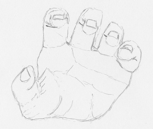 Keys to Drawing - Project 1-B - Hand, 4th attempt