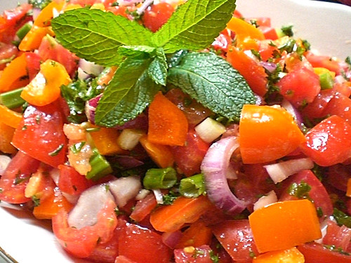 Balsamic Tomatoes and Peppers Salad